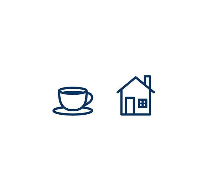 Cafe (Kaffihús) = Coffee + House