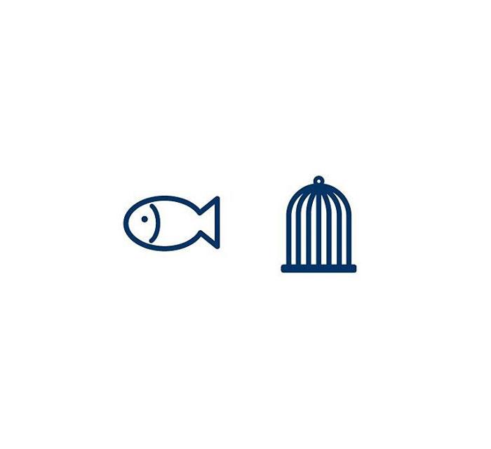 Aquarium (Fiskabúr) = Fish + Cage