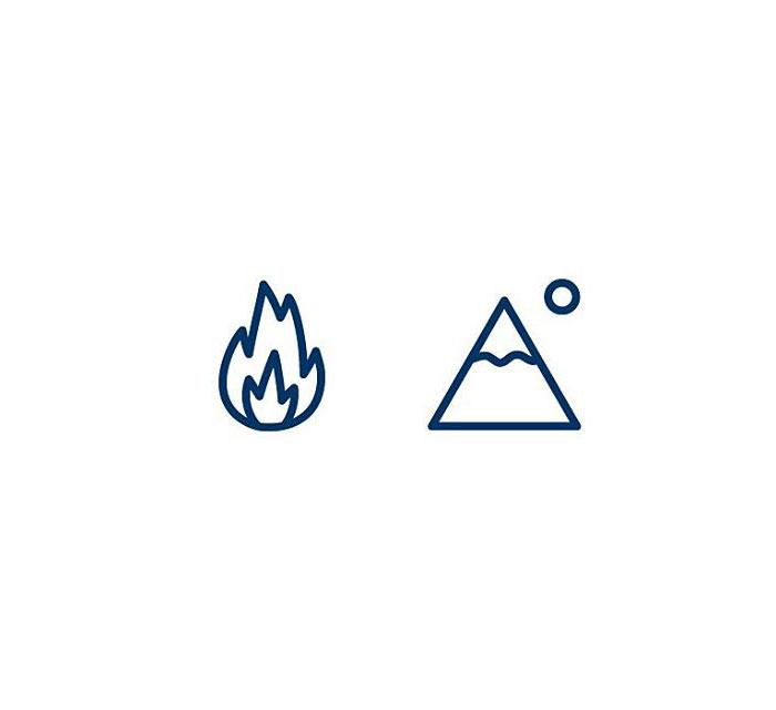 Volcano (Eldfjall) = Fire + Mountain