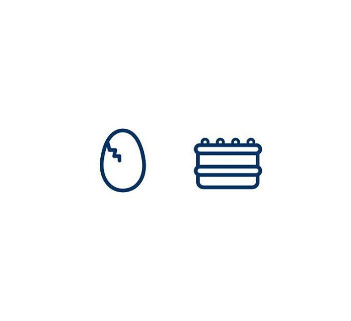Omelet (Eggjakaka) = Egg + Cake