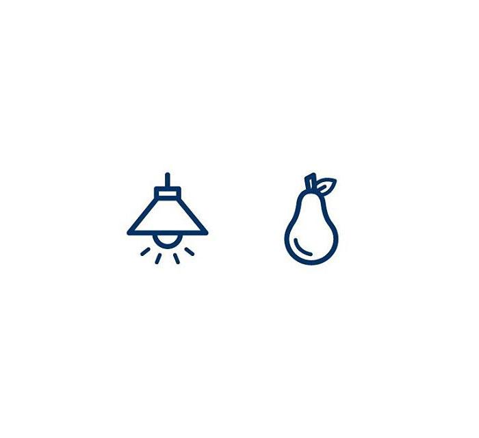 Lightbulb (Ljósapera) = Light + Pear