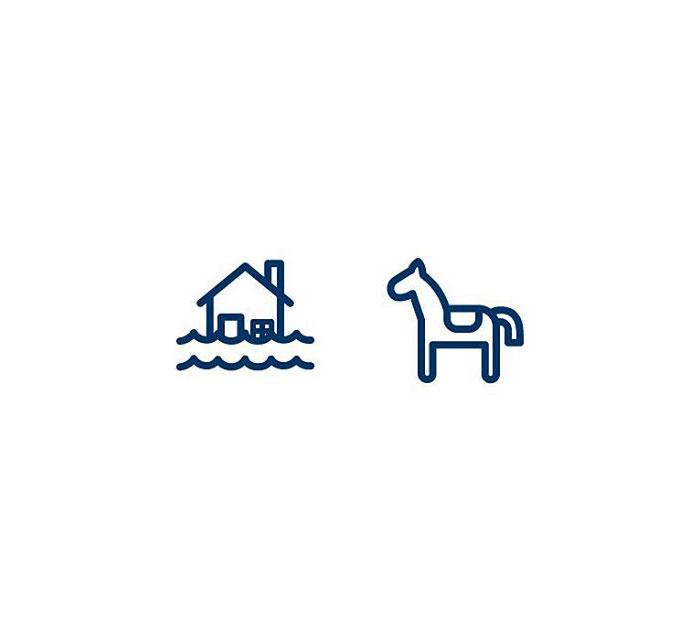Hippopotamus (Flóðhestur) = Flood + Horse