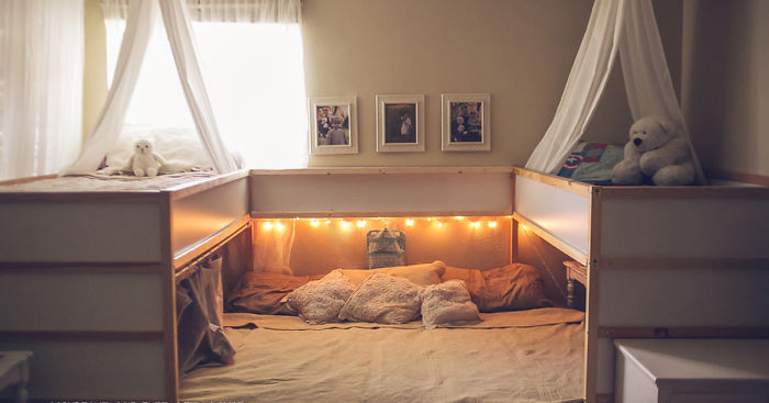 Ikea Bed Hack.Mom Hacks Ikea Beds Creating A Superbed That Fits All 7
