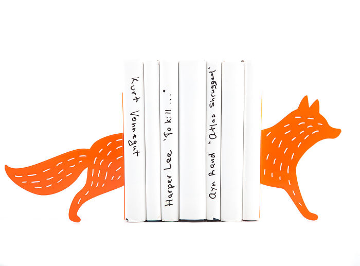 Running Fox Bookends By Designatelierarticle