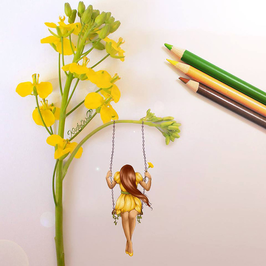 Charmant ...... Illustrations-real-objects-kristina-webb-28