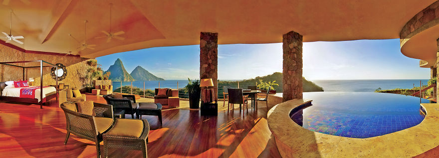Jade Mountain Resort, Hotel Room In The Caribbean