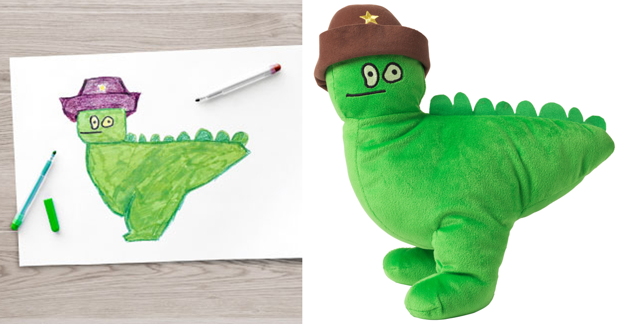 Ikea turned children s drawings into real plush toys to for Ikea children toys