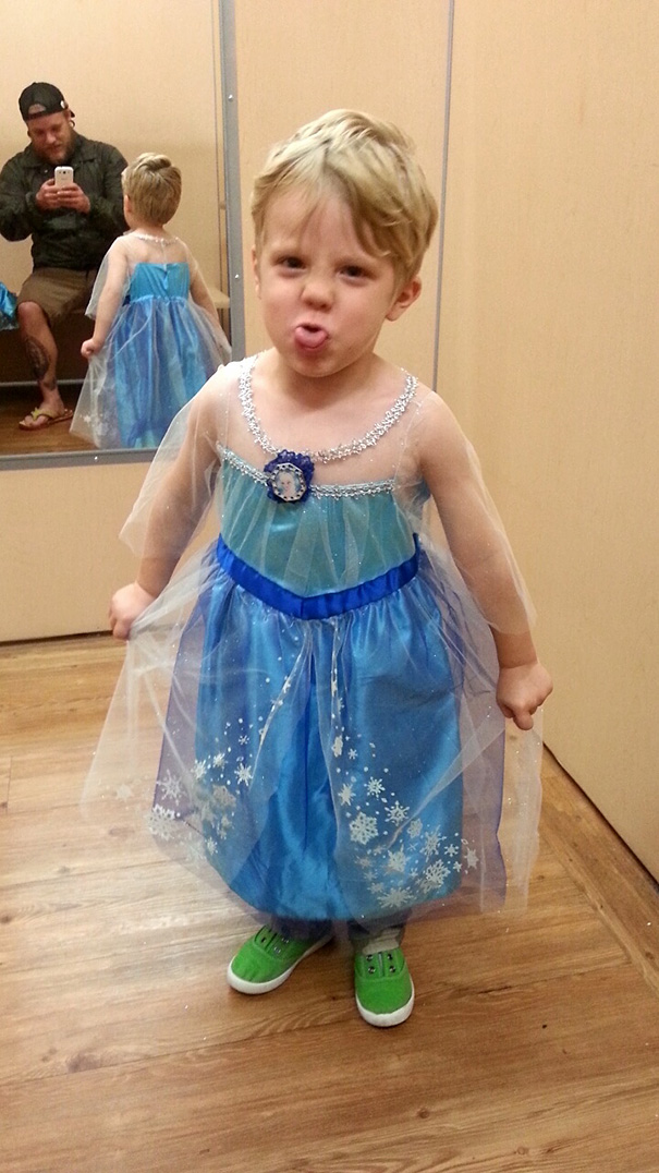 My Son Caiden Wants To Be Elsa For Halloween This Year