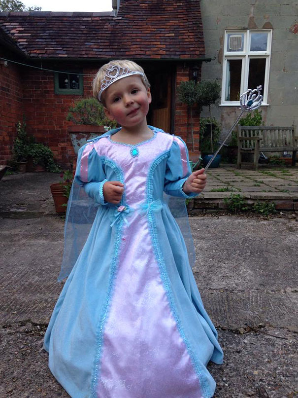 My Gorgeous Baby Brother Loves His Princess Dress