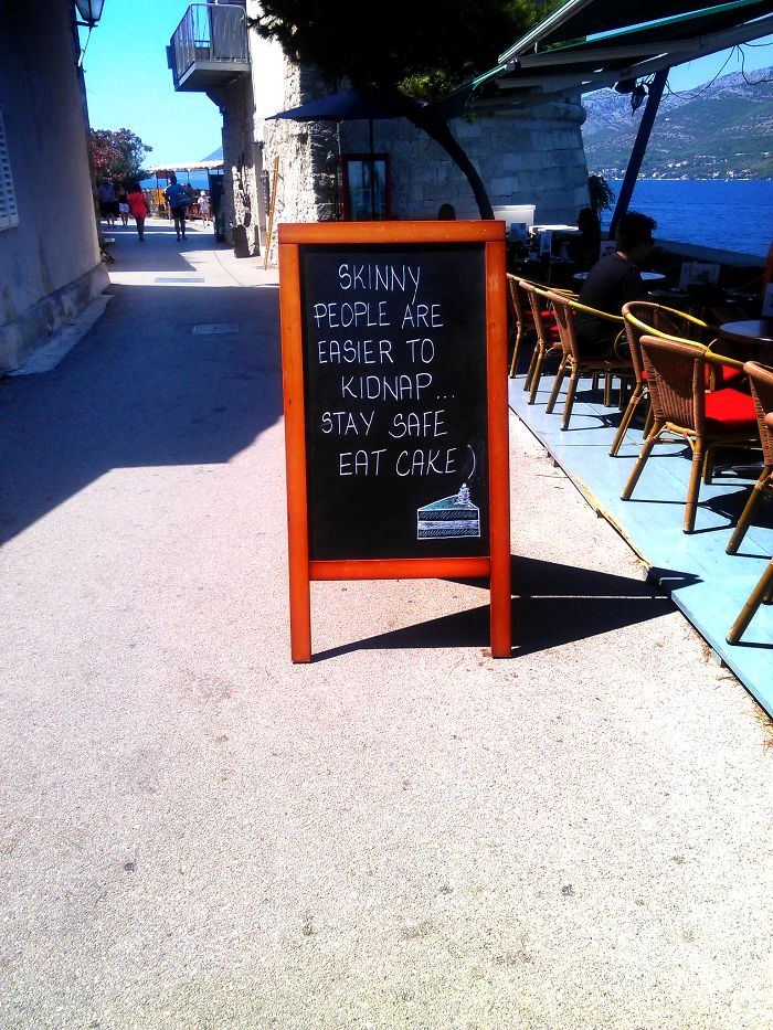 Came Across This Sign In Korcula, Croatia. I Felt Safe.