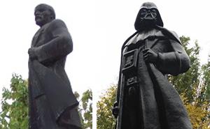 Lenin Statue Turned Into Darth Vader In Odessa, Ukraine