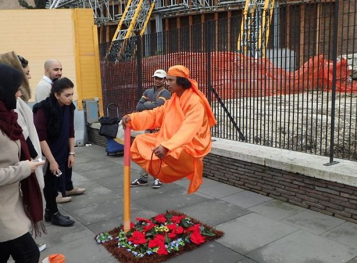 The Secret Behind Levitating Street Performers