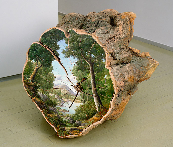 Landscapes Painted On Fallen Tree Logs Tell Us Not To Take Nature For Granted
