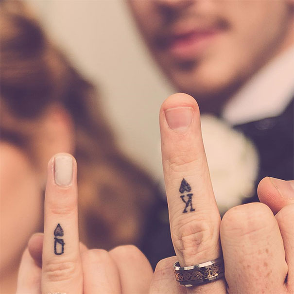 4495e31f848bd 53 Brave Couples Who Chose Matching Wedding Tattoos Instead Of Rings ...