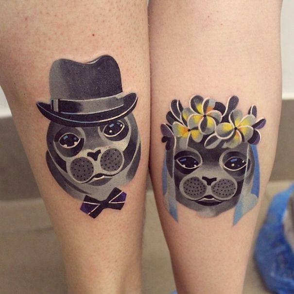 Matching Wedding Tattoos