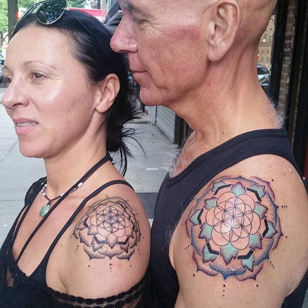 Matching Wedding Tattoos