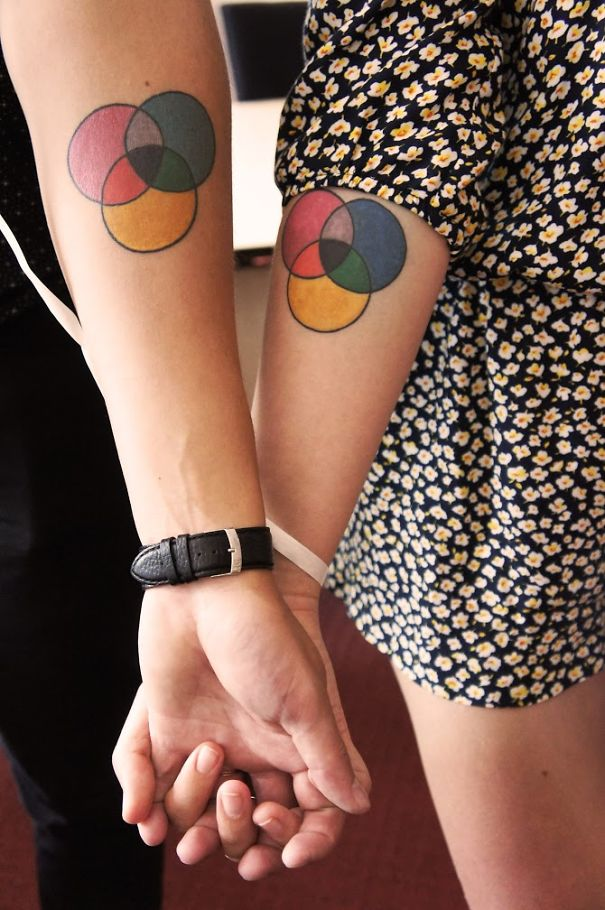 Cmyk Color Scheme Tattoos, Picture Taking On Our Wedding Day