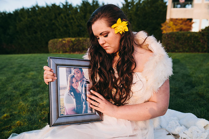 Memorial Photo Shoot: Fiancé Passed Away One Month Before Wedding Day