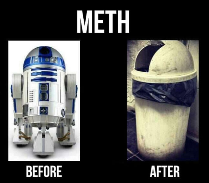 R2d2 On Blue Meth
