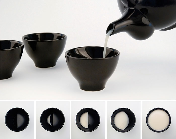 Moon Glass Reveals Different Lunar Phases When You Drink