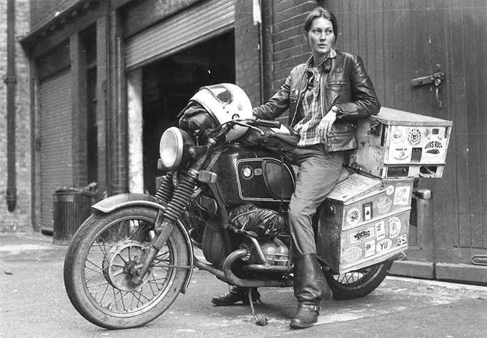 Elspeth Beard, First Englishwoman To Ride A Motorbike Around The World (1980s)