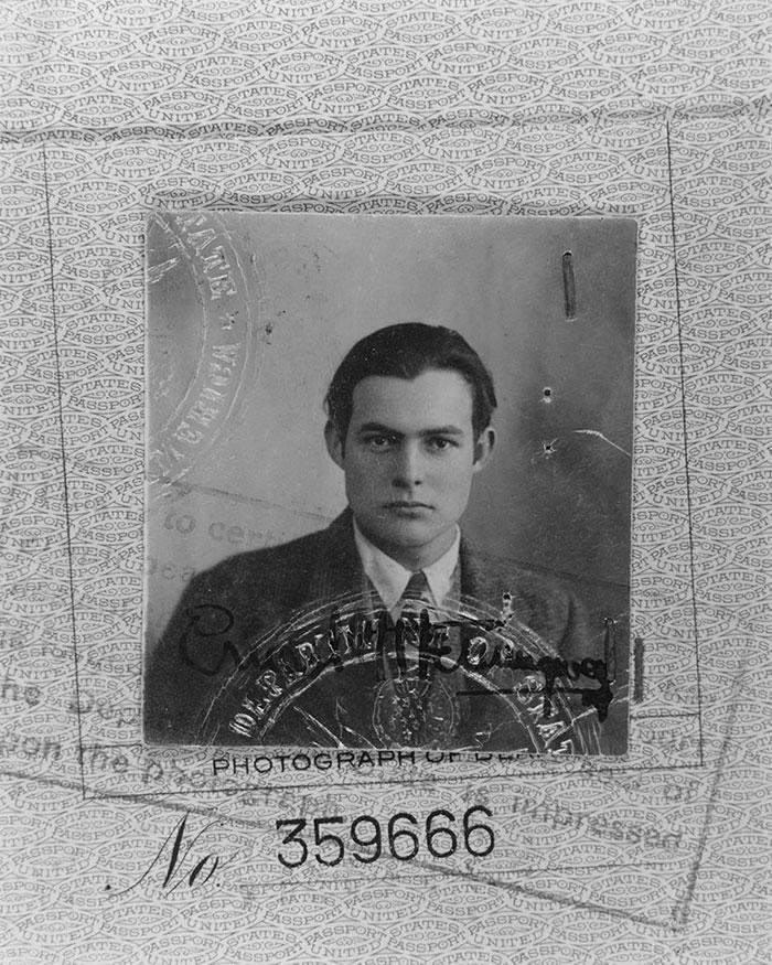 Ernest Hemingway Passport Photograph (1923)
