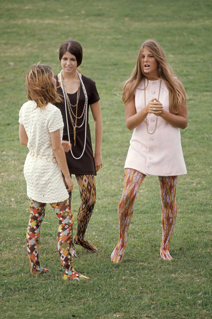 "Corona Del Mar High School Students Kim Robertson, Pat Auvenshine And Pam Pepin Wear ""Hippie"" Fashions (1969)"
