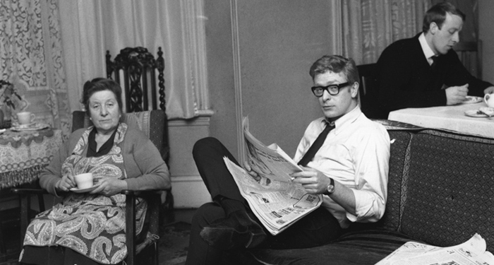 English Film Actor Michael Caine At Home With His Mother And Brother (1964)