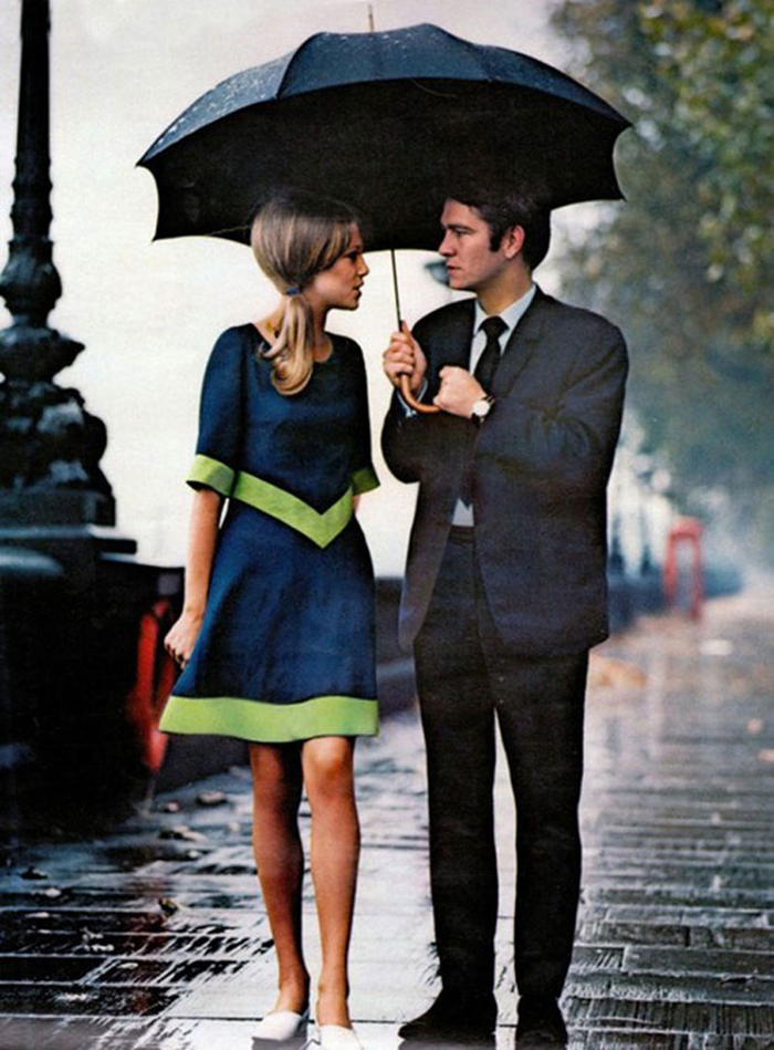 A Stylish Couple In The Rain