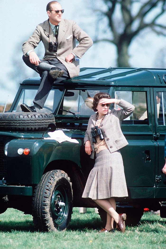The Queen Elizabeth II And The Duke Of Edinburgh Watching Competitors At The Badminton Horse Trials (1968)