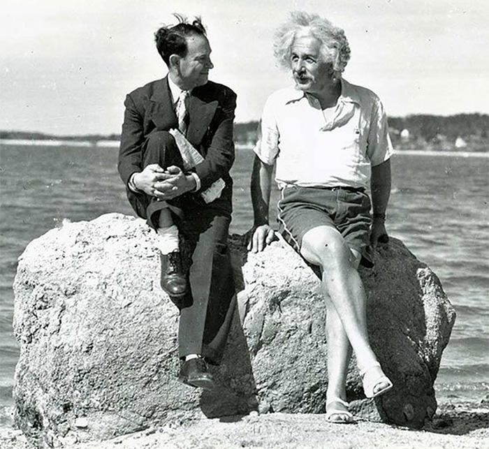 Einstein At Nassau Point, Long Island, New York (1939)