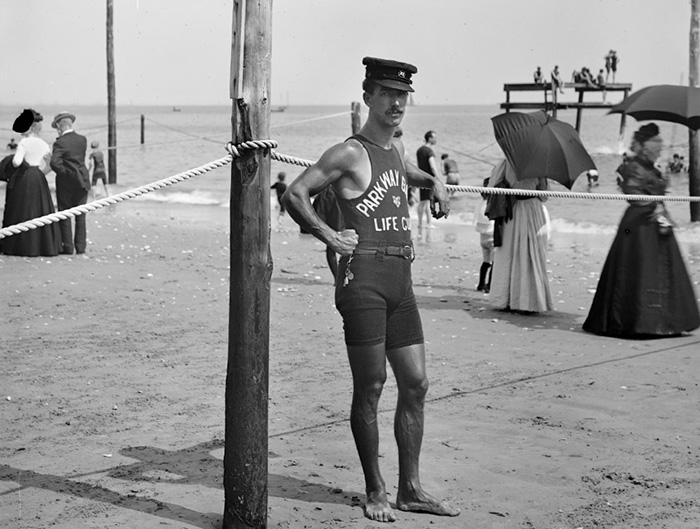 A Life Guard, Brighton Beach, New York (Between 1901 And 1906)