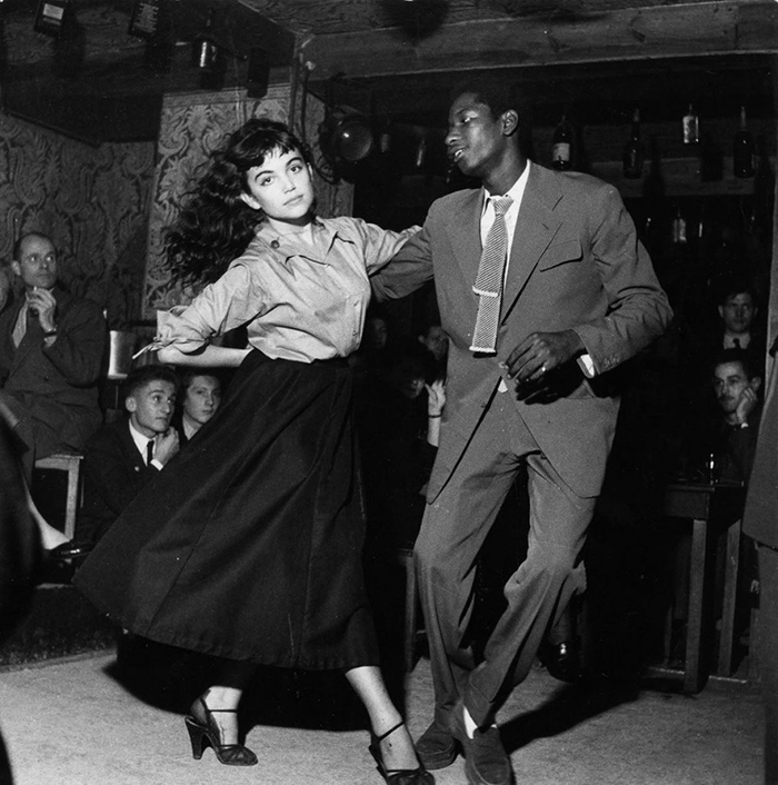 A Young Couple Dancing Be-Bop At Vieux Colombier Theatre In Paris (1951)