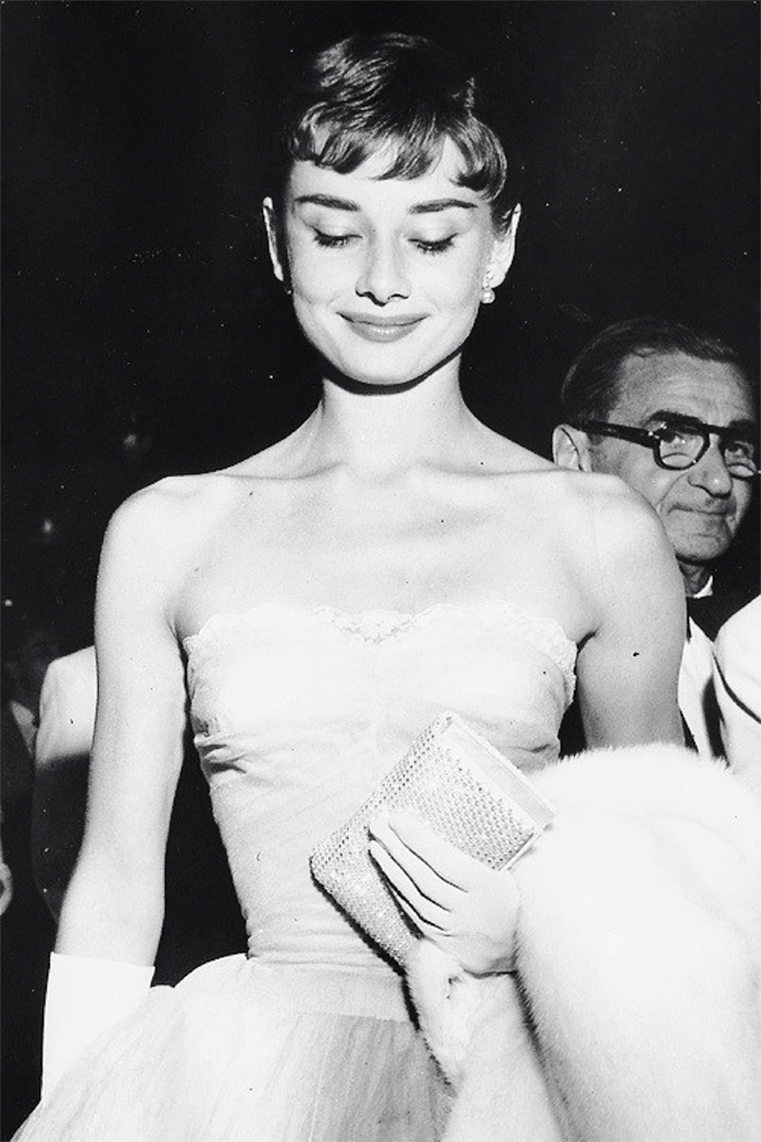 Audrey Hepburn At The Roman Holiday Premiere (1953)