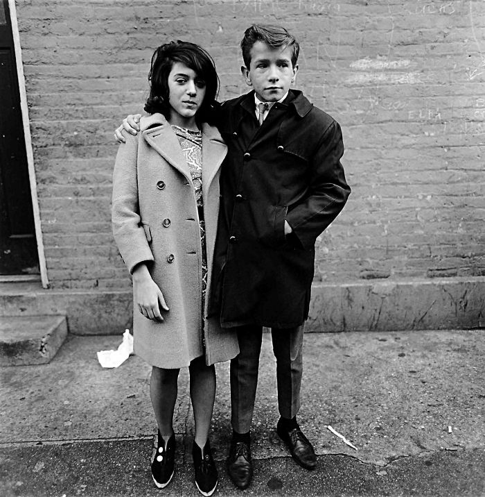 Teenage Couple On Hudson Street, New York (1963)