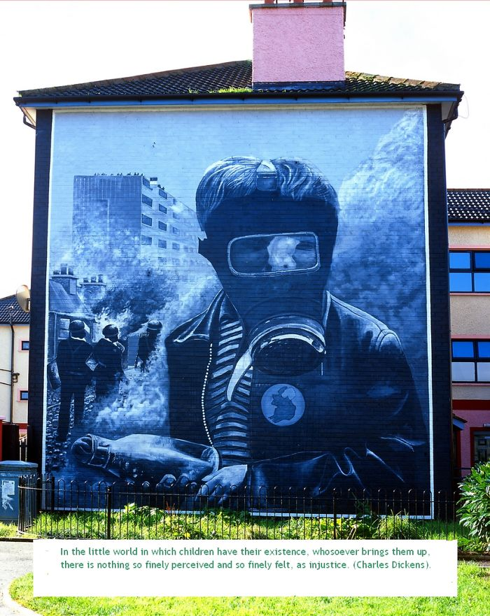 Iconic Mural Painted By The Bogside Artists Of Derry In Northern Ireland