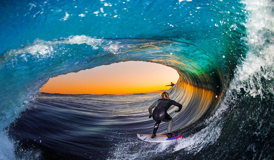Ride Safe Vest >> I Photograph Surfers From Inside Barrel Waves At Night