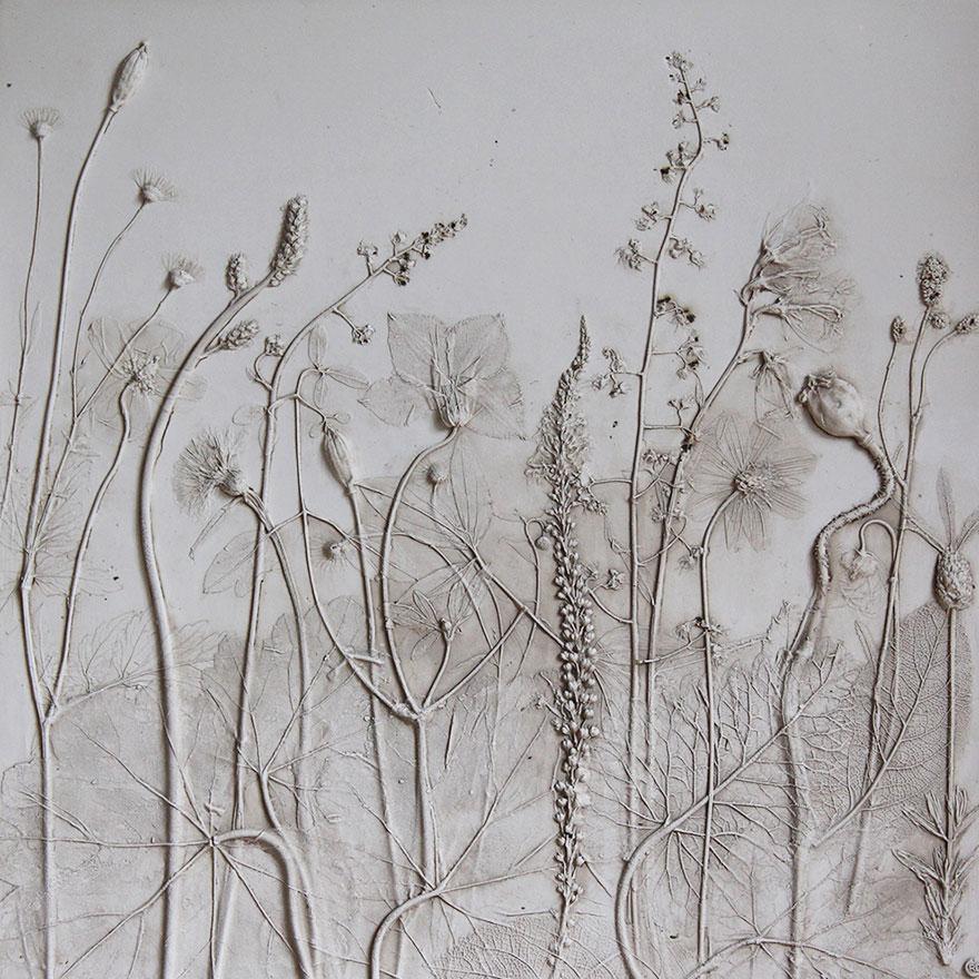 plaster-cast-flower-fossils-rachel-dein-4