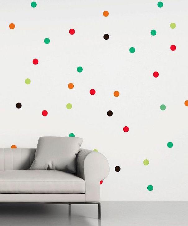 Polka Dots In Rainbow Colours