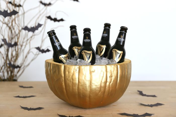 My DIY Pumpkin Drink Cooler For Halloween