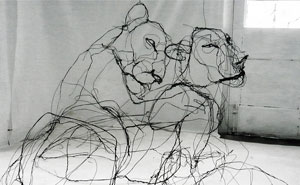 Wire Animal Sculptures That Look Like Scribbled Pencil Drawings By David Oliveira