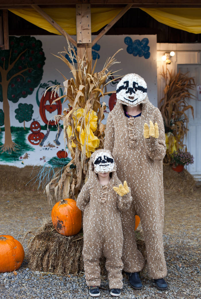 I Made Sloth Onesies For My Son And I To Wear On Halloween