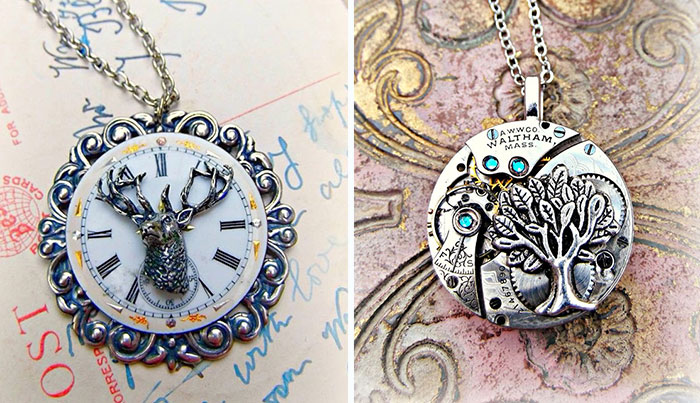 We Turn Old Pocketwatch And Antique Parts Into Steampunk Jewelry