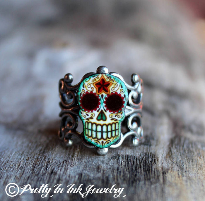 Awesome Sugar Skull Ring
