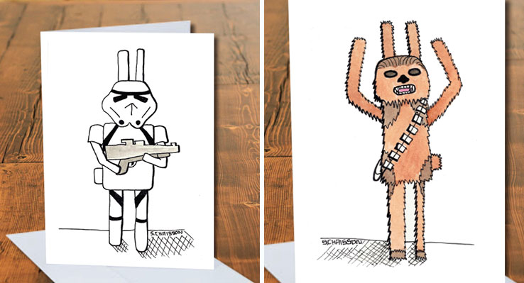 I Raise Money For Rescued Bunnies By Drawing Them As Superheroes And Pop Icons