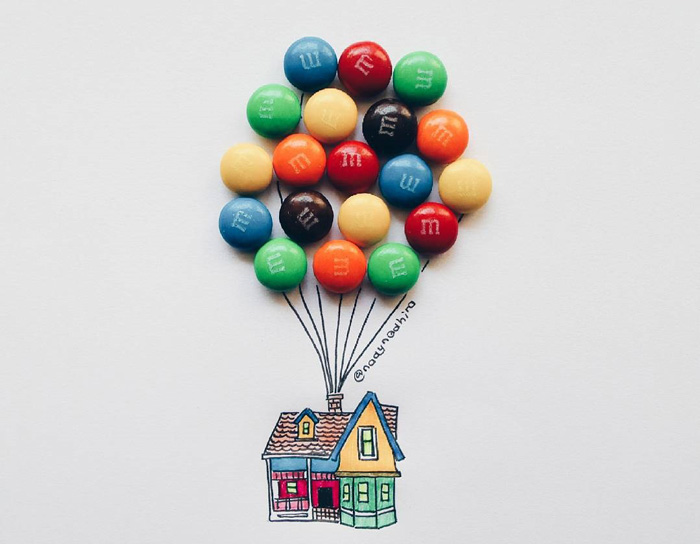Illustrator Uses Childhood Sweets And Snacks To Complete Her Drawings