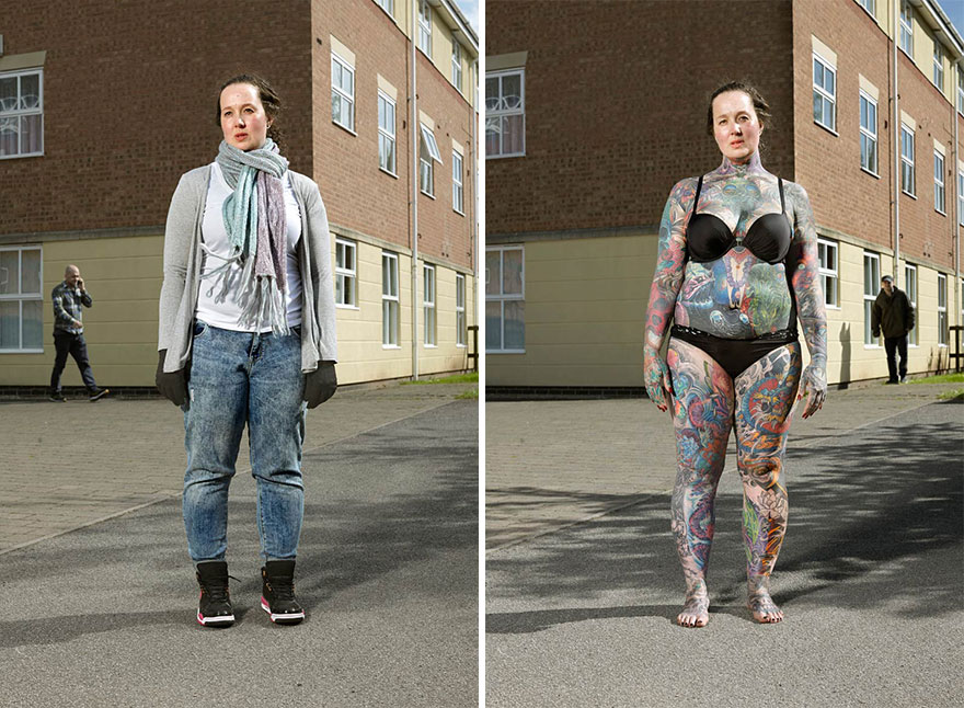 Photographer Reveals What Hides Under Tattooed People S Everyday