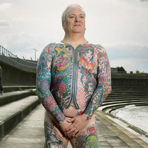 Photographer Reveals What Hides Under Tattooed People's Everyday Clothes