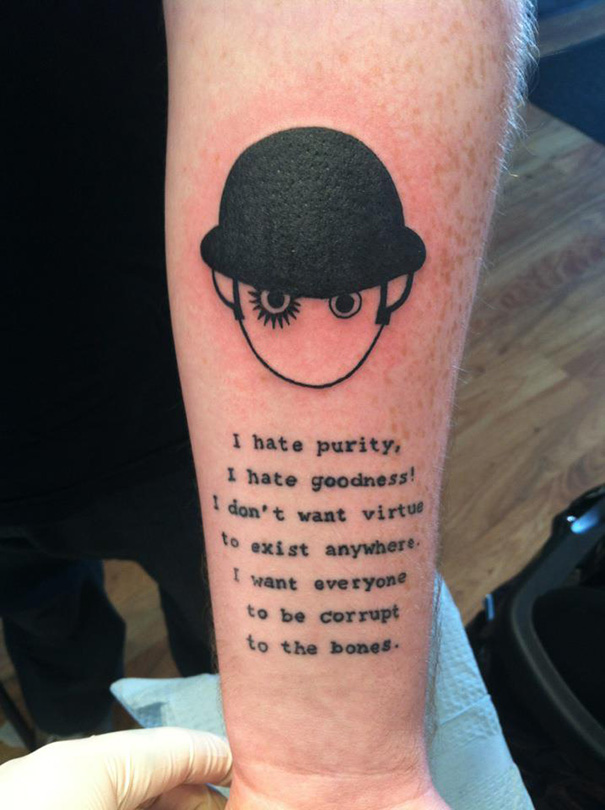 Clockwork Orange And 1984 Tattoo