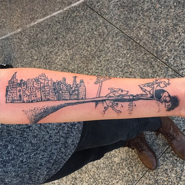 Where The Side Walk Ends Tattoo
